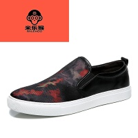 米乐猴 潮牌2017新款标准尺码男鞋夏季透气帆布鞋韩版休闲板鞋潮