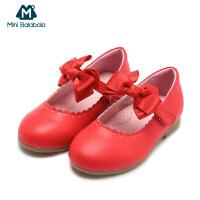 【每满299元减100元】迷你巴拉巴拉女童休闲鞋春装新款童鞋韩版公主单鞋儿童鞋