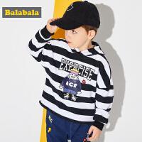 巴拉巴拉男童小童宝宝卫衣童装春秋2018新款韩版儿童圆领套头衫潮