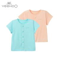 【直降】英氏婴儿上衣夏季 男女宝宝内衣单件短袖衣服154042