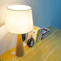 幽咸家居木艺台灯 实木底座 小木灯 台灯卧室 实木底座 装饰布艺简约床头阅读灯 氛围灯YX-LMD0051