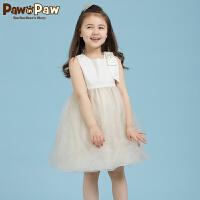 【1件3折 到手价:299】Pawinpaw宝英宝卡通小熊童装夏季款女童连衣裙PCOW72545M