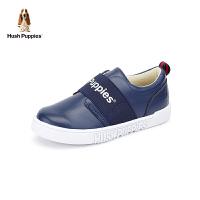 暇步士Hush Puppies童鞋18秋季新款运动鞋男童滑板鞋儿童小白鞋软面休闲鞋 (5-10岁可选) DP9352