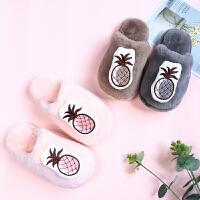 儿童棉拖鞋宝宝可爱男女童1-3岁2冬天室内保暖防滑婴幼儿毛绒棉鞋