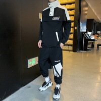 男士休闲卫衣套装新款青少年夹克衫韩版潮流学生外套男秋季两件套