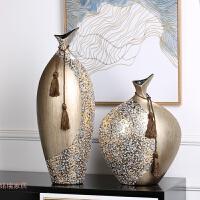 欧式时尚花瓶创意家居装饰品客厅电视柜玄关摆件奢华陶瓷花瓶贴花