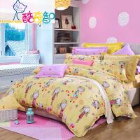 富安娜家纺 酷奇智儿童卡通床上用品四件套纯棉斜纹床单被套