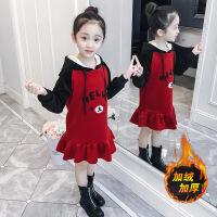 女童卫衣裙秋冬装2018新款韩版女孩洋气连衣裙中长款儿童加厚上衣