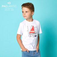 派克兰帝童装 男童户外休闲短袖T恤 男童夏季短T