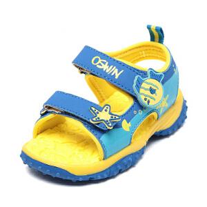 鞋柜/奥思文新款夏季软底圆头魔术贴小男孩童鞋休闲儿童凉鞋