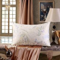 水星家纺枕头正品一只装臻品鹅绒鹅毛立体枕星级酒店枕芯
