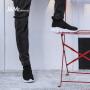jm快乐玛丽春季新款时尚舒适透气套脚男士休闲鞋运动鞋