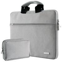 苹果电脑包MacBook12air11pro13.3内胆包皮15寸笔记本11.6薄13mac保护套1 手提浅灰+电源包