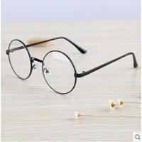 女圆形复古眼镜框无度数眼睛圆框平面镜眼镜架男潮防辐射眼镜
