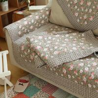 爱丁堡玫瑰地中海沙发垫小碎花防滑布艺沙发垫坐垫飘窗垫