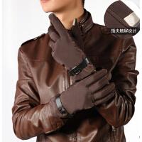 男士秋冬保暖手机触摸屏手套防风骑车双层加厚防寒