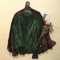 金丝绒 冬装新款女装纯色半高领显瘦百搭打底长袖T恤LY08209
