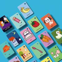 �和�英�Z卡片早教�⒚砷W卡 中英文�J知�R字卡片0-3-6�q撕不��卡片
