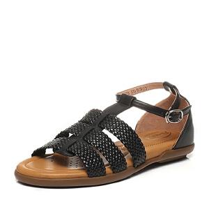 BATA/拔佳夏季专柜同款休闲舒适编织女凉鞋AK908BL6