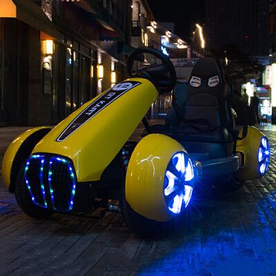 大型玩具车可坐人大型儿童电动车四轮卡丁车摩托车宝宝汽车小孩玩具可坐人带遥控车 科幻卡丁车耍帅神器!高速驱动电机防爆轮