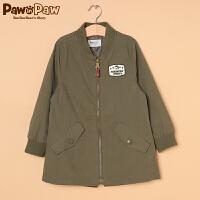 【一口价:120】Pawinpaw宝英宝韩国小熊童装冬季新款男童夹克
