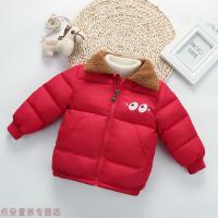 冬季儿童羽绒中小童男女童加绒加厚短款棉袄宝宝冬装棉衣外套秋冬新款