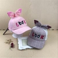 儿童帽子春夏季男童棒球帽潮嘻哈帽女童弯檐鸭舌帽宝宝遮阳帽