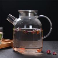 加厚耐热家用玻璃水杯套装6只套装泡茶水杯茶杯果汁啤酒杯带杯架
