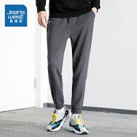 真维斯男裤秋装新款运动裤男青年韩版休闲卫裤修身小脚针织裤