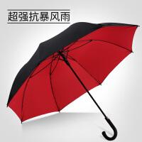 雨伞男大号长柄自动学生女双人创意双层复古弯钩伞定制商务伞