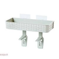 免打孔浴室置物架壁挂卫生间用品吸壁式厕所马桶塑料收纳架