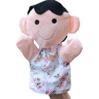 指套玩偶 一家六口人物手套玩偶动物大手偶娃娃玩具幼儿园生肖手偶指偶