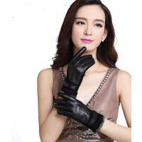 真皮手套单扣短款皮手套女士反绒皮手套冬季