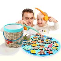 钓鱼玩具磁性女孩一岁半宝宝玩具1-2-3岁男孩儿童益智早教