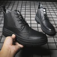 宜驰 EGCHI 靴子男士花纹切尔西马丁耐磨时尚 K78098