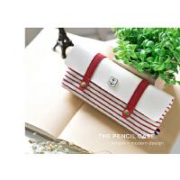 海魂风笔袋帆布个性创意小清新学生女文具用品韩国简约铅笔盒