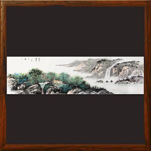 1.8米山水画《依山傍水》实力画家松涛 边秀后R2663