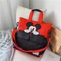 小学生补习袋儿童补课包女童手提袋拎书袋美术袋作业袋单肩斜挎包