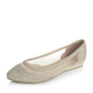 BASTO/百思图春季专柜同款布简约时尚女单鞋TS922AQ6