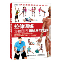 T拉伸训练彩色图谱网球与羽毛球拉伸训练书籍拉伸训练动作标准图解预防肌肉紧张损伤和病痛练肌肉健美书球拍类运动健身图书籍