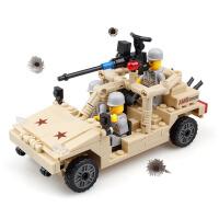 开智儿童玩具益智拼装拼插积木玩具组装军事模型男孩玩具KY82004