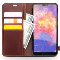 包邮支持礼品卡 华为 P20 手机壳 真皮 P20 pro 翻盖 保护套 插卡 保护 手机皮套 商务 防摔