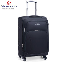 蒙多萨拉杆箱万向轮男女牛津布行李箱登机箱商务旅行箱凡布箱包 28寸 送箱套