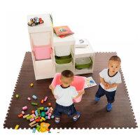 明德木纹大号环保耐磨EVA泡沫地垫宝宝爬行垫拼接地毯60*60*1�M4片/包咖啡色 客厅卧室地垫