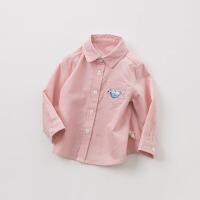 戴维贝拉童装春季新款男童衬衫宝宝全棉衬衣DBM10329