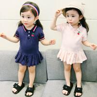 女宝宝连衣裙夏装短袖裙子女童夏季婴儿荷叶边卫衣裙
