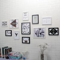 相框组合挂墙七寸 5 7 10寸摆台婚纱照片墙夹子创意客厅画框像框 适合1.5-----5米墙面