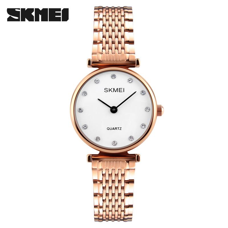 女士手表简约贝壳面石英潮流时尚腕表女生时装表