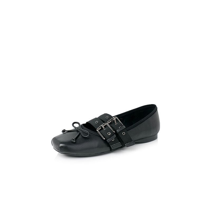 Belle/百丽2017新款秋季时尚芭蕾舞鞋羊皮革女休闲鞋71916CQ7