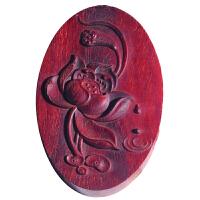 印度小叶紫檀木雕花开富贵吊坠红木实木雕刻汽车挂饰礼品